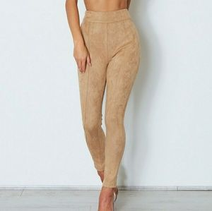 Soho faux suede pants